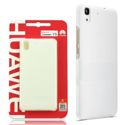 CUSTODIA BACK CASE POSTERIORE RIGIDA SLIM 0,8mm ORIGINALE per HUAWEI Y6, HONOR 4A COLORE BIANCO BLISTER