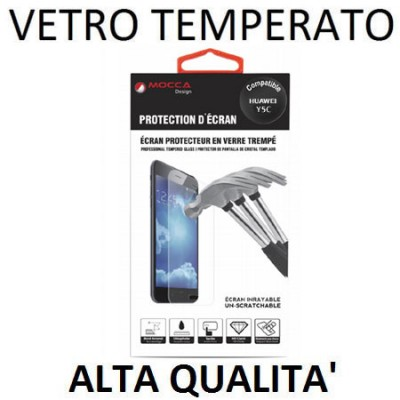 PELLICOLA PROTEGGI DISPLAY VETRO TEMPERATO 0,33mm per HUAWEI Y5C, HONOR BEE ALTA QUALITA' MOCCA BLISTER