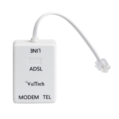 FILTRO ADSL RJ11 CON DUE ENTRATE PER IL TELEFONO E IL MODEM COLORE BIANCO SN20315 VULTECH