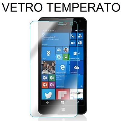 PELLICOLA PROTEGGI DISPLAY VETRO TEMPERATO 0,33mm per MICROSOFT LUMIA 650