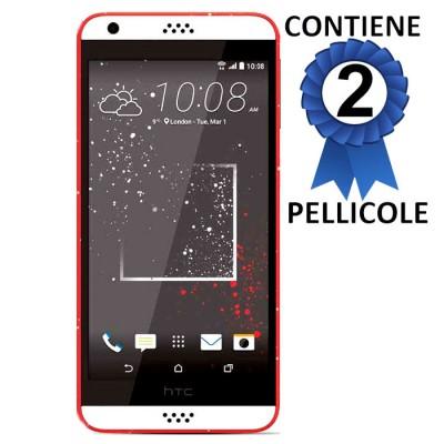 PELLICOLA PROTEGGI DISPLAY per HTC DESIRE 630 CONFEZIONE 2 PEZZI