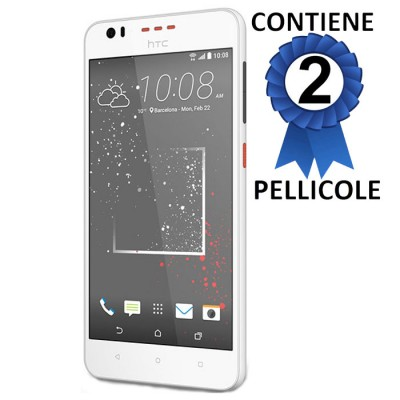 PELLICOLA PROTEGGI DISPLAY per HTC DESIRE 825 CONFEZIONE 2 PEZZI