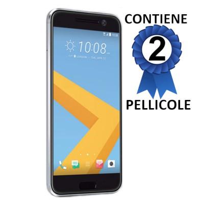PELLICOLA per HTC 10, M10 - PROTEGGI DISPLAY CONFEZIONE 2 PEZZI