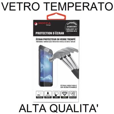 PELLICOLA PROTEGGI DISPLAY VETRO TEMPERATO 0,33mm per SAMSUNG SM-A710 GALAXY A7 (2016) ALTA QUALITA' MOCCA BLISTER