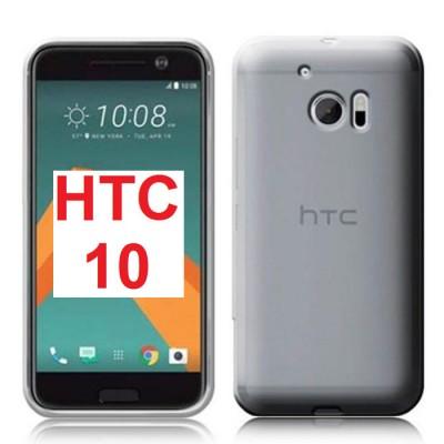 CUSTODIA per HTC 10, M10 IN GEL TPU SILICONE TRASPARENTE