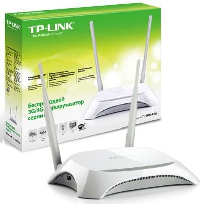 ROUTER 3G/4G WIRELESS N 300Mbps TL-MR3420 CON FUNZIONE QSS E CONDIVISIONE WIRELESS 3G/4G COLORE BIANCO TP-LINK BLISTER