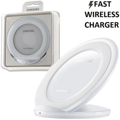 TRAVEL CASA WIRELESS FAST CHARGER ORIGINALE SAMSUNG per SM-G930 GALAXY S7 E TUTTI DISPOSITIVI DOTATI DI QI COLORE BIANCO