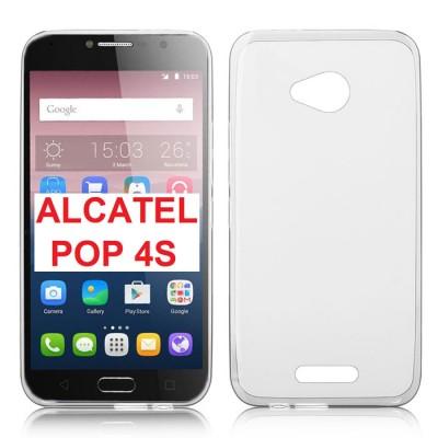 CUSTODIA GEL TPU SILICONE TRASPARENTE per ALCATEL ONE TOUCH POP 4S, 5095 - 5.5' POLLICI