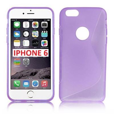 CUSTODIA GEL TPU SILICONE DOUBLE per APPLE IPHONE 6, IPHONE 6S 4.7' POLLICI COLORE VIOLA