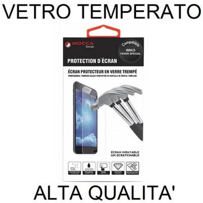 PELLICOLA PROTEGGI DISPLAY VETRO TEMPERATO 0,33mm per WIKO FEVER SPECIAL EDITION 4G ALTA QUALITA' MOCCA BLISTER