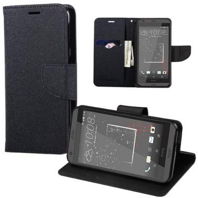 CUSTODIA FLIP ORIZZONTALE per HTC DESIRE 530 CON INTERNO IN TPU, STAND E TASCHE PORTA CARTE COLORE NERO