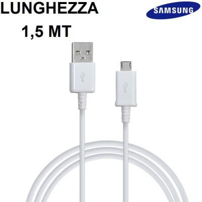 CAVO USB ORIGINALE SAMSUNG CON ATTACCO MICRO USB per GALAXY S7, GALAXY S7 EDGE LUNGHEZZA 1.5 MT COLORE BIANCO BULK