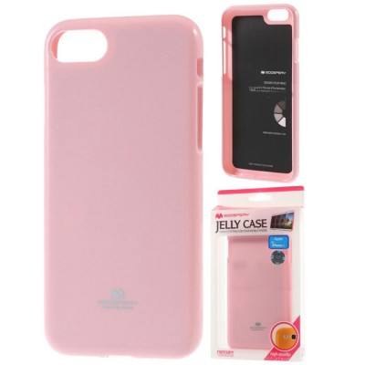 CUSTODIA GEL TPU SILICONE per APPLE IPHONE 7, IPHONE 8 COLORE ROSA LUCIDO ALTA QUALITA' MERCURY BLISTER