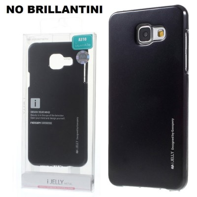 CUSTODIA GEL TPU SILICONE per SAMSUNG SM-A310 GALAXY A3 (2016) COLORE NERO ALTA QUALITA' MERCURY I-JELLY (NO BRILLANTINI)