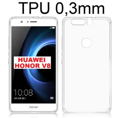 CUSTODIA GEL TPU SILICONE ULTRA SLIM 0,3mm TRASPARENTE per HUAWEI HONOR V8