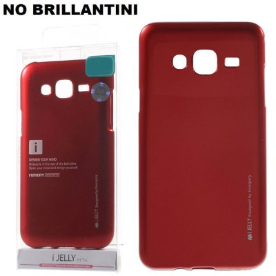 CUSTODIA GEL TPU SILICONE per SAMSUNG SM-J210 GALAXY J2 (2016) COLORE ROSSO ALTA QUALITA' MERCURY I-JELLY (NO BRILLANTINI)