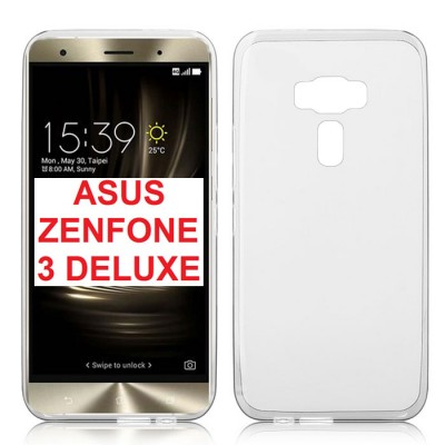 CUSTODIA GEL TPU SILICONE TRASPARENTE per ASUS ZENFONE 3 DELUXE (ZS570KL, Z016S)