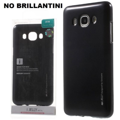 CUSTODIA GEL TPU SILICONE per SAMSUNG SM-J510 GALAXY J5 (2016) NERO ALTA QUALITA' MERCURY I-JELLY BLISTER (NO BRILLANTINI)