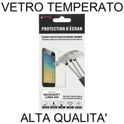 PELLICOLA PROTEGGI DISPLAY VETRO TEMPERATO 0,33mm per MICROSOFT LUMIA 650 ALTA QUALITA' MOCCA BLISTER