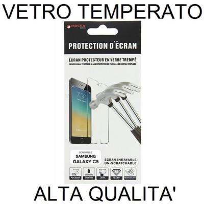 PELLICOLA PROTEGGI DISPLAY VETRO TEMPERATO 0,33mm per SAMSUNG SM-C5000 GALAXY C5 ALTA QUALITA' MOCCA - Non copre la parte arroto