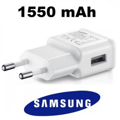 TRAVEL CASA USB ORIGINALE SAMSUNG EP-TA50EWE CON PORTA USB DA 1550 mAh COLORE BIANCO BULK