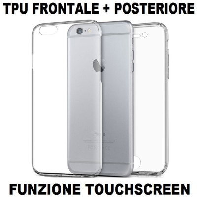 CUSTODIA per APPLE IPHONE 6, IPHONE 6S - 4.7' POLLICI - IN GEL TPU SILICONE FRONTALE + POSTERIORE ULTRA SLIM 0,3mm TRASPARENTE
