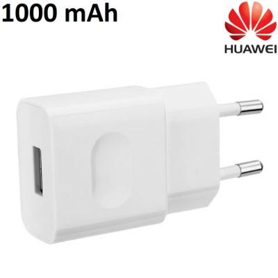 TRAVEL CASA USB HW-050100E01 ORIGINALE HUAWEI per Y560, P8 LITE - 1000 mAh COLORE BIANCO BULK