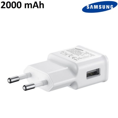 TRAVEL CASA USB ORIGINALE SAMSUNG ETA-U90EWE per SAMSUNG SM-G928 S6 EDGE PLUS - 2000 mAh COLORE BIANCO BULK