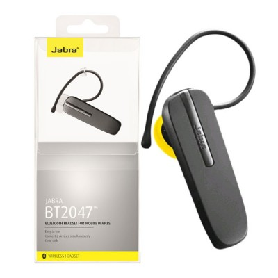 AURICOLARE BLUETOOTH 2.1 CON MULTIPOINT PER 2 DISPOSITIVI COLORE NERO BT2047 JABRA BLISTER