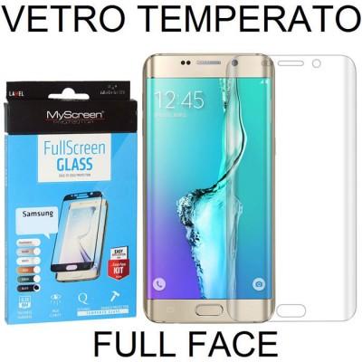 PELLICOLA VETRO TEMPERATO FULL FACE 0,3mm TRASPARENTE per SAMSUNG SM-G925 GALAXY S6 EDGE MYSCREEN BLISTER