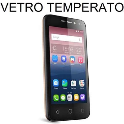 PELLICOLA PROTEGGI DISPLAY VETRO TEMPERATO per ALCATEL PIXI 4 - 3G - 4' POLLICI 4034D