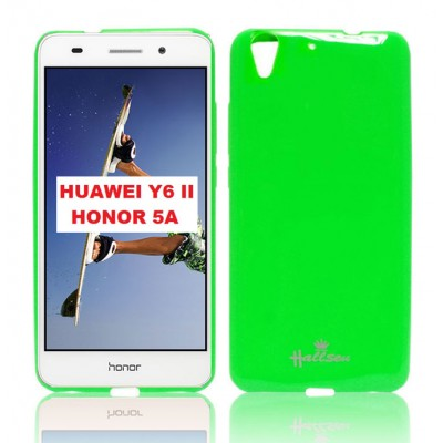 CUSTODIA GEL TPU SILICONE LUCIDA per HUAWEI Y6 II, HONOR 5A, HONOR HOLLY 3 COLORE VERDE HALSSEN