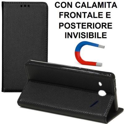 CUSTODIA FLIP ORIZZONTALE per ALCATEL PIXI 4 - 3G - 4' POLLICI 4034D con CHIUSURA MAGNETICA INVISIBILE, STAND ED INTERNO IN TPU