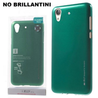 CUSTODIA GEL TPU SILICONE per HUAWEI Y6 II, HONOR 5A COLORE VERDE ALTA QUALITA' MERCURY I-JELLY BLISTER (NO BRILLANTINI)