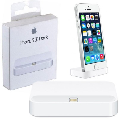 DOCK STATION ORIGINALE APPLE MF030ZM/A LIGHTNING per IPHONE 5S, IPHONE SE, IPHONE 5 COLORE BIANCO BLISTER SEGUE COMPATIBILITA'..