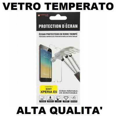 PELLICOLA per SONY XPERIA E5, XPERIA E5 DUAL PROTEGGI DISPLAY VETRO TEMPERATO 0,33mm ALTA QUALITA' MOCCA BLISTER