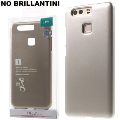 CUSTODIA per HUAWEI P9 IN GEL TPU SILICONE COLORE ORO ALTA QUALITA' MERCURY I-JELLY BLISTER (NO BRILLANTINI)