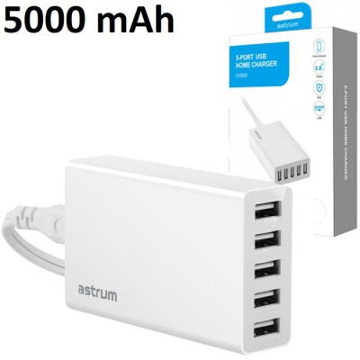 TRAVEL CASA CON 5 PORTE USB 5000 mAh TOTALI COLORE BIANCO A92550-Q ASTRUM BLISTER SEGUE COMPATIBILITA'..