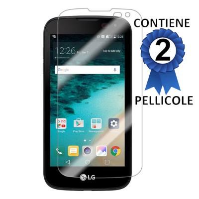 PELLICOLA per LG K3 (K100, K100DS, LS450) - PROTEGGI DISPLAY CONFEZIONE 2 PEZZI