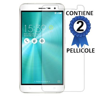 PELLICOLA per ASUS ZENFONE 3 (ZE520KL), 5.2' POLLICI - PROTEGGI DISPLAY CONFEZIONE 2 PEZZI