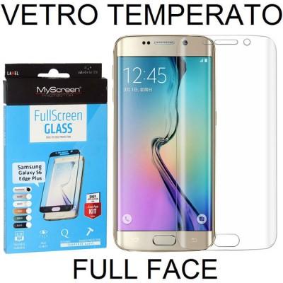 PELLICOLA VETRO TEMPERATO FULL FACE 0,3mm TRASPARENTE per SAMSUNG SM-G928 GALAXY S6 EDGE PLUS MYSCREEN BLISTER