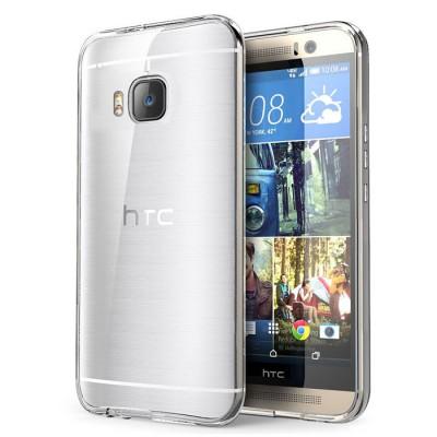 CUSTODIA per HTC ONE M9, ONE M9 PRIME CAMERA IN GEL TPU SILICONE TRASPARENTE