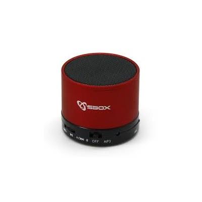 CASSA SPEAKER BLUETOOTH UNIVERSALE per SMARTPHONE E TABLET COLORE ROSSO ICSB-BT160RE SBOX BLISTER