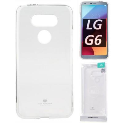 CUSTODIA per LG G6, H870, G6 DUAL SIM H870DS IN GEL TPU SILICONE TRASPARENTE ALTA QUALITA' MERCURY BLISTER