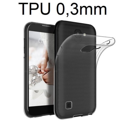 CUSTODIA per LG K3 (2017) IN GEL TPU SILICONE ULTRA SLIM 0,3mm TRASPARENTE