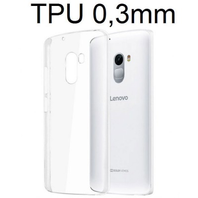 CUSTODIA per LENOVO VIBE K4 NOTE, A7010 IN GEL TPU SILICONE ULTRA SLIM 0,3mm TRASPARENTE