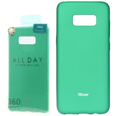 CUSTODIA per SAMSUNG SM-G950 GALAXY S8 IN GEL TPU SILICONE COLORE VERDE ACQUA ALTA QUALITA' ROAR COLORFUL BLISTER