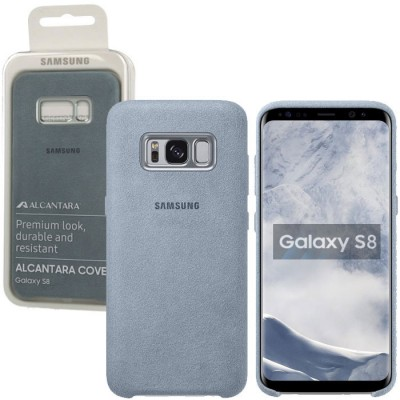 CUSTODIA ORIGINALE per SAMSUNG SM-G950 GALAXY S8 - BACK CASE IN ALCANTARA COLORE VERDE ACQUA EF-XG950AMEGWW BLISTER