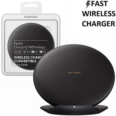 TRAVEL CASA WIRELESS FAST CHARGER ORIGINALE SAMSUNG per SM-G950 GALAXY S8 E TUTTI DISPOSITIVI DOTATI DI QI COLORE NERO