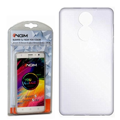 CUSTODIA ORIGINALE per NGM YOU COLOR SMART 5, YOU COLOR SMART 5 PLUS IN GEL TPU SILICONE TRASPARENTE BLISTER